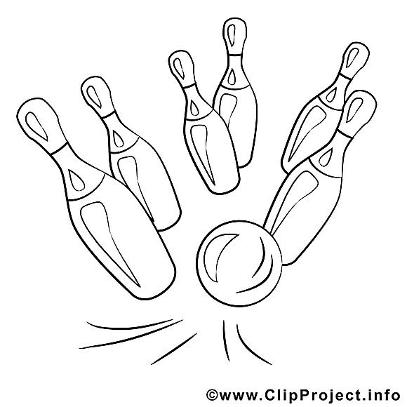 Bowling dessin gratuit – Divers à colorier