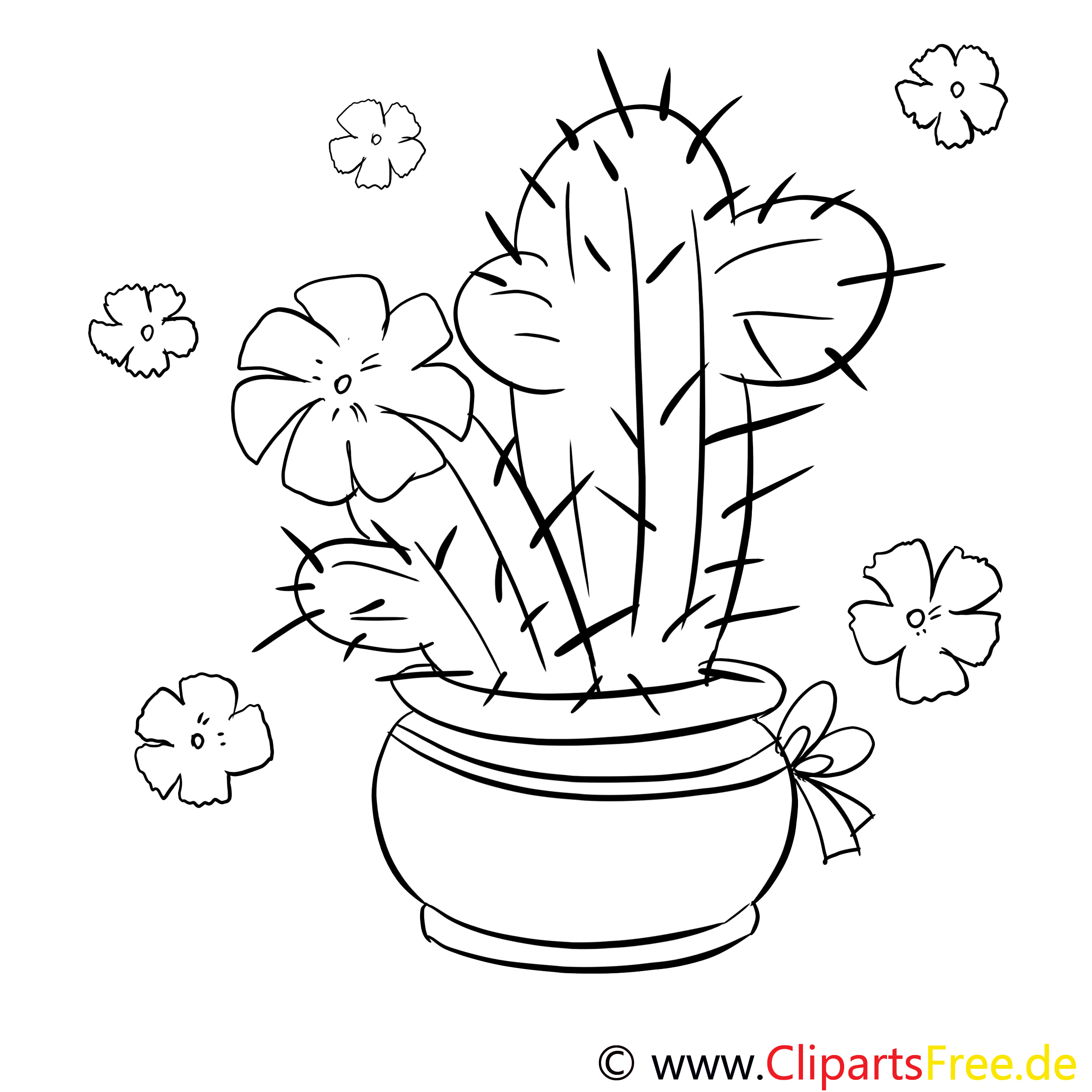 Cactus image à télécharger – Divers à colorier