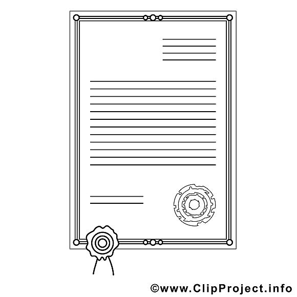 Certificat dessin à télécharger – Divers à colorier