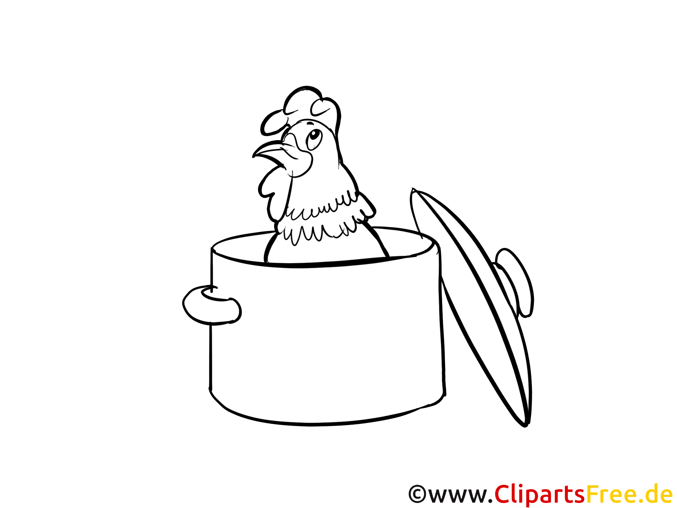 Coq clipart gratuit – Divers à colorier