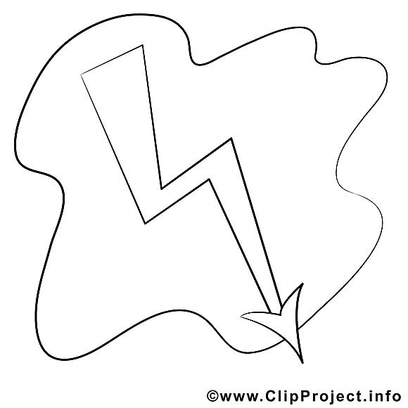 Foudre dessin – Divers gratuits à imprimer
