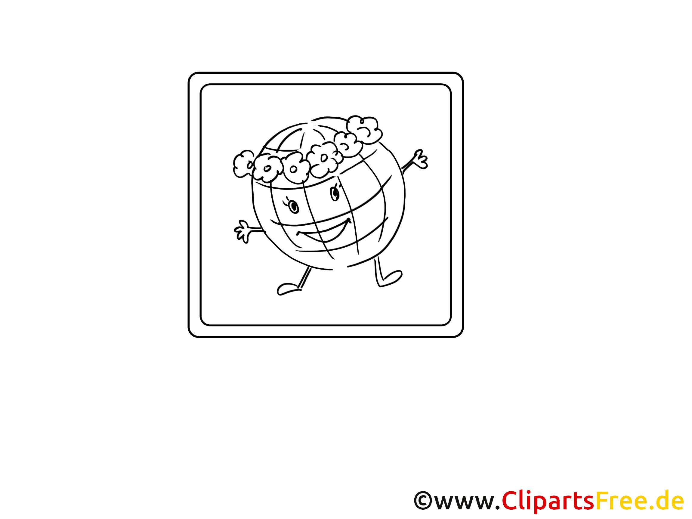 Globe images gratuites – Divers à colorier