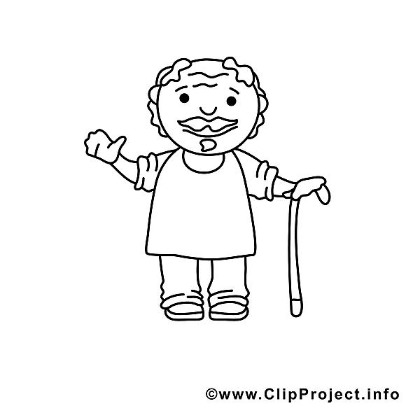 Grand-père dessin à télécharger – Divers à colorier