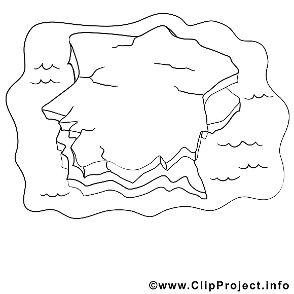 Iceberg clipart – Divers dessins à colorier