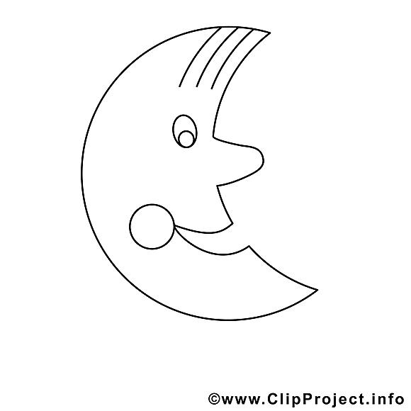 Lune images – Divers gratuit à imprimer
