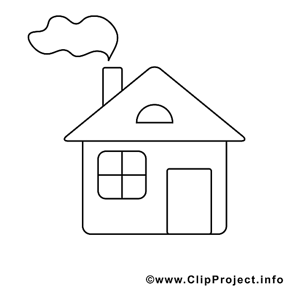 Maison clipart – Divers dessins à colorier