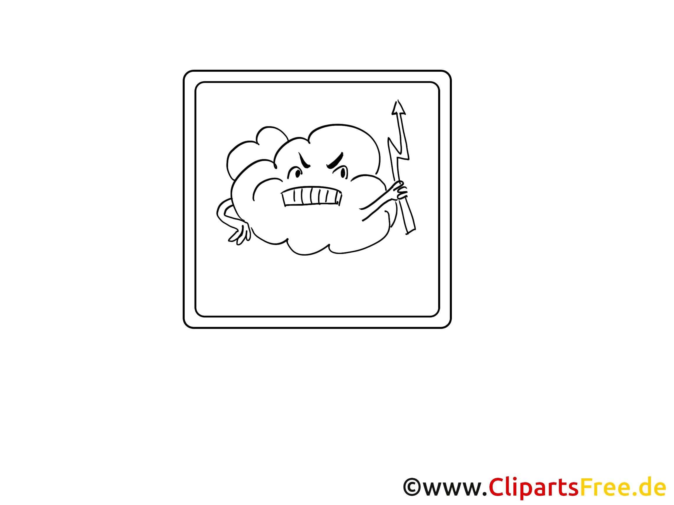 Nuage image à télécharger – Divers à colorier