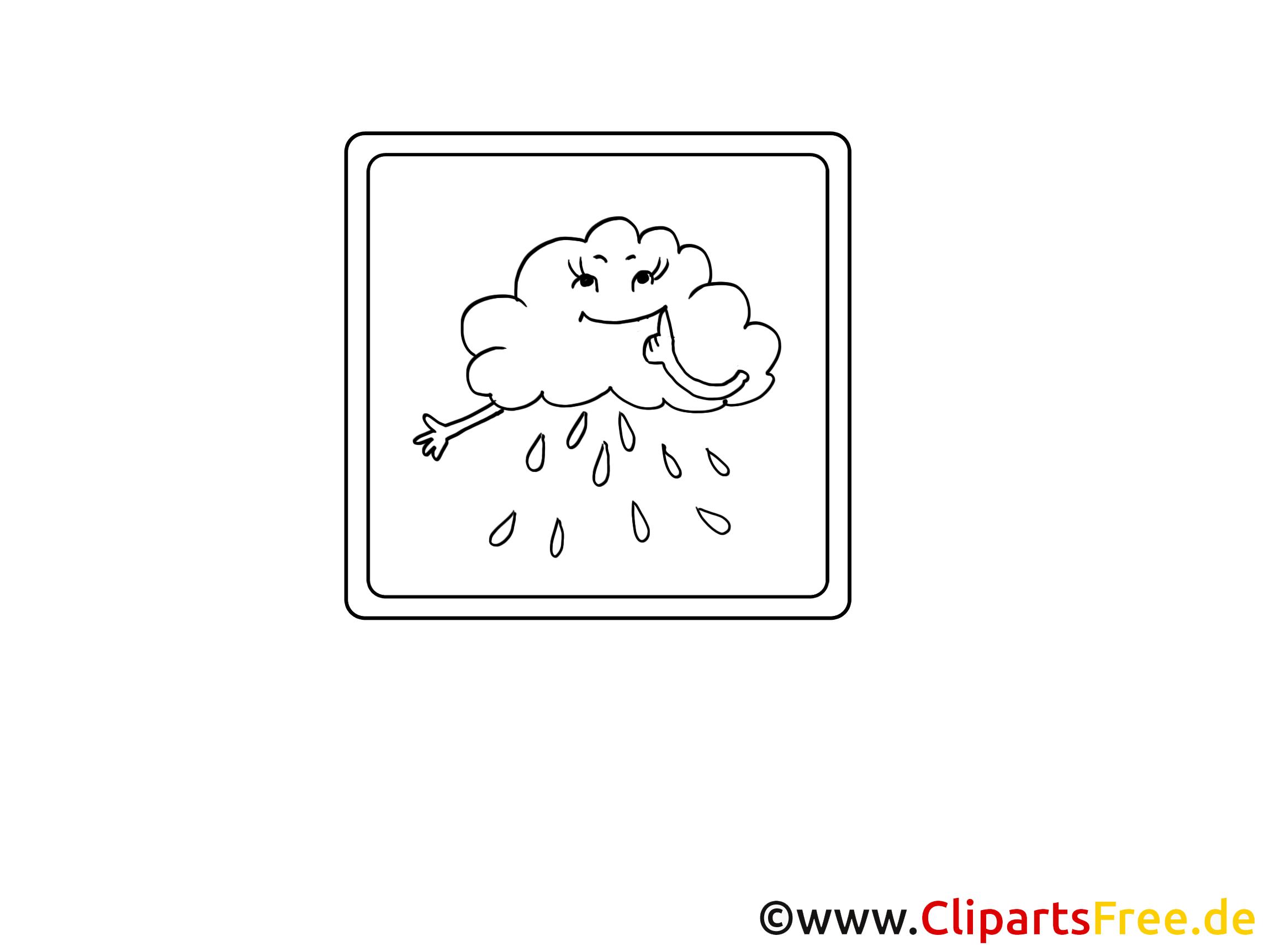 Pluie dessin – Coloriage divers à télécharger