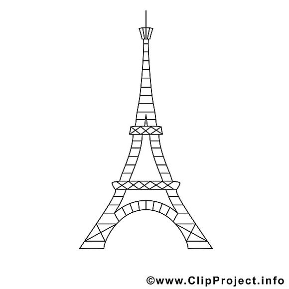 Tour Eiffel Clipart Gratuit Divers A Colorier Coloriages A