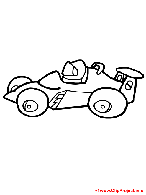 Voiture de course coloriage gratuit formule 1