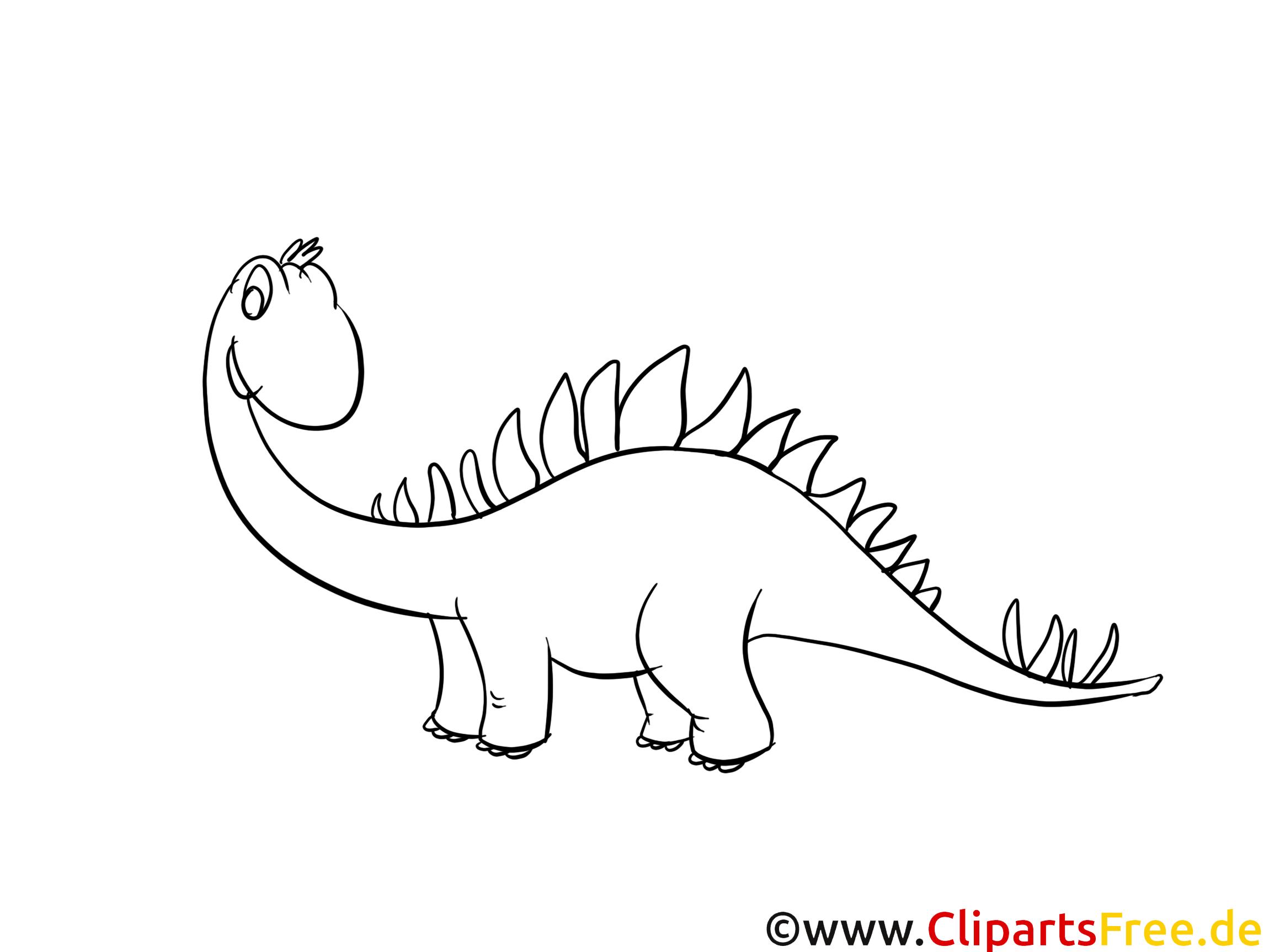 Stégosaure Clipart Gratuit Dinosaures à Colorier