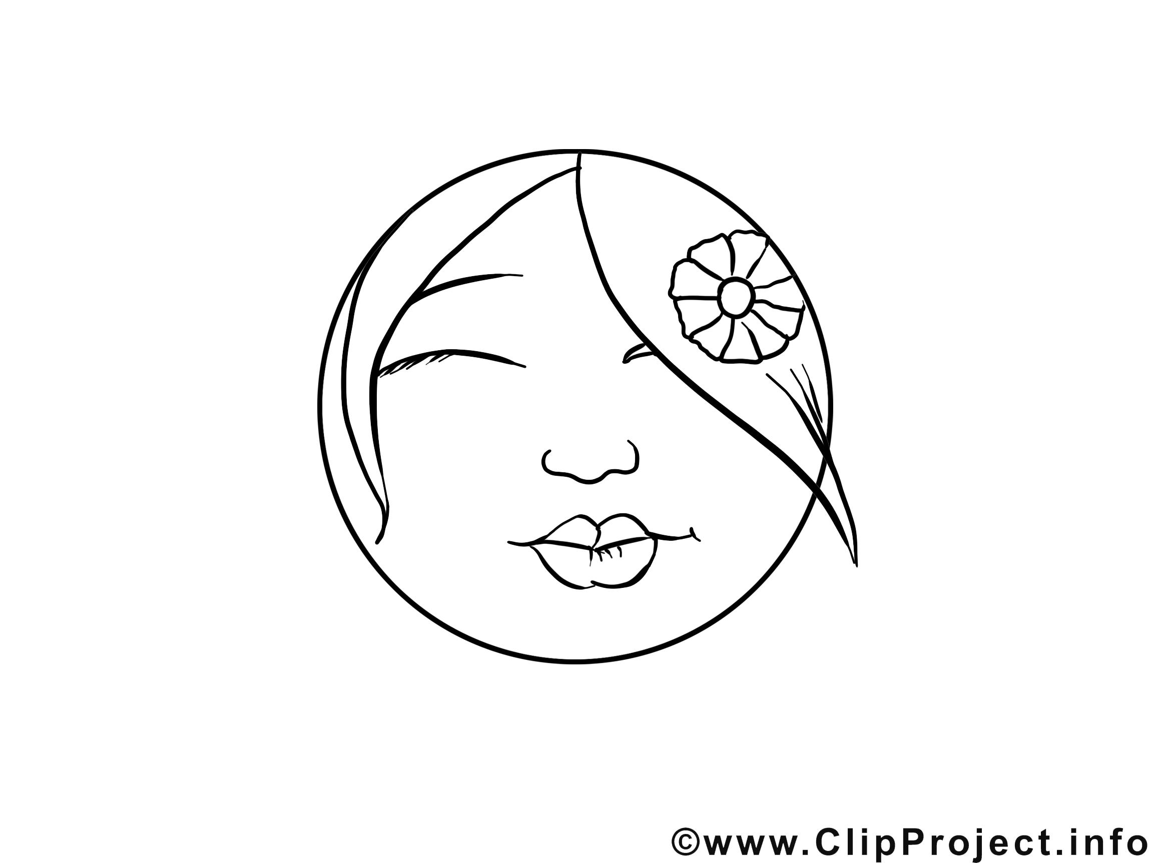 Bisou image gratuite – Émoticônes à colorier