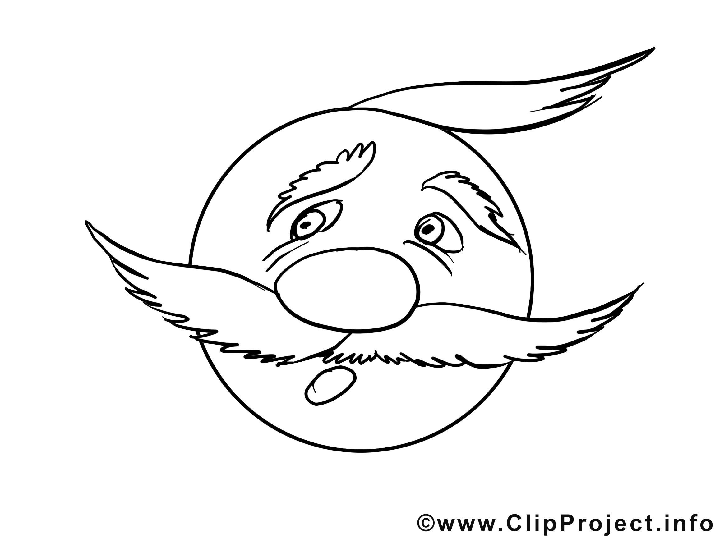 Effrayé dessin – Émoticônes gratuits à imprimer