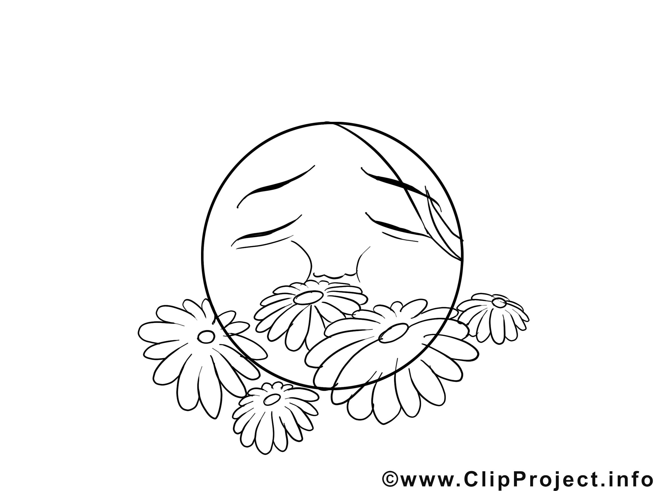 Fleurs dessin à télécharger – Émoticônes à colorier