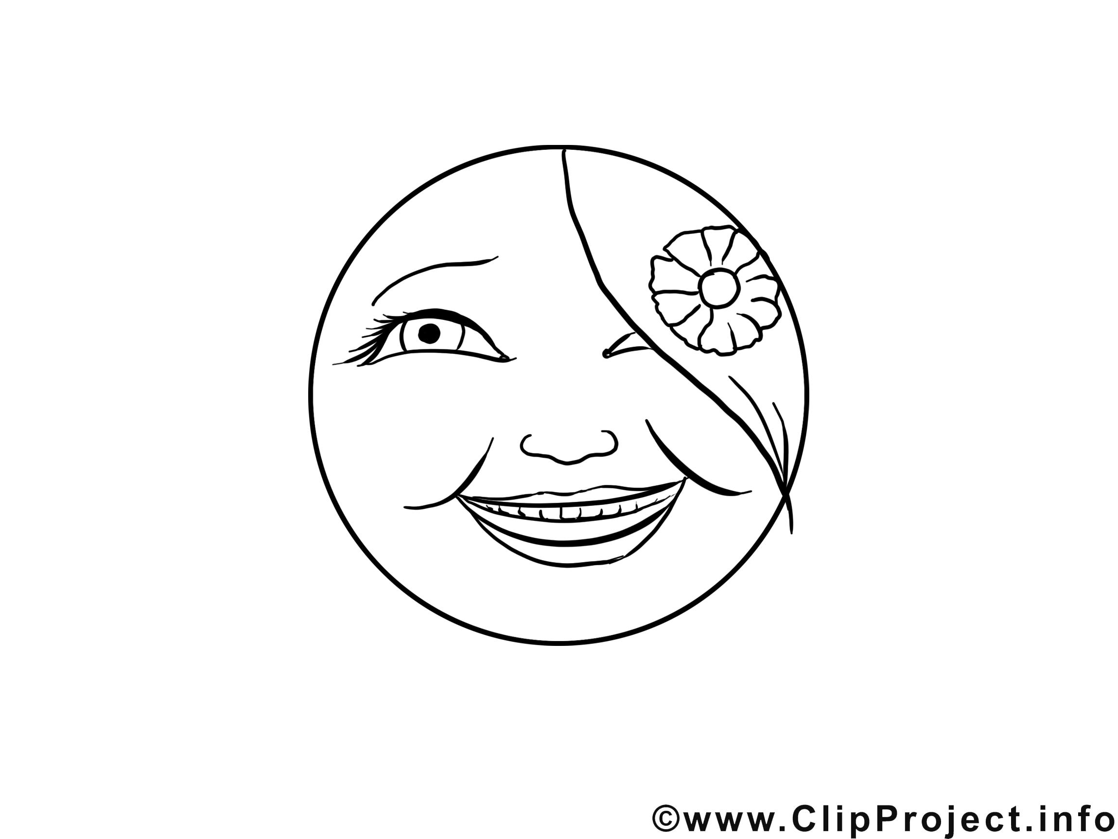 Ravie clipart – Émoticônes dessins à colorier