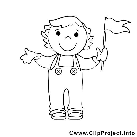 Drapeau garçon images – Enfants gratuit à imprimer