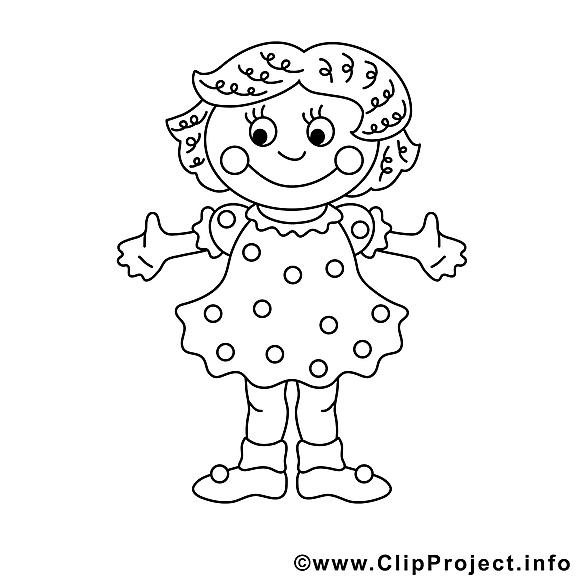 Fille images gratuites – Enfants à colorier