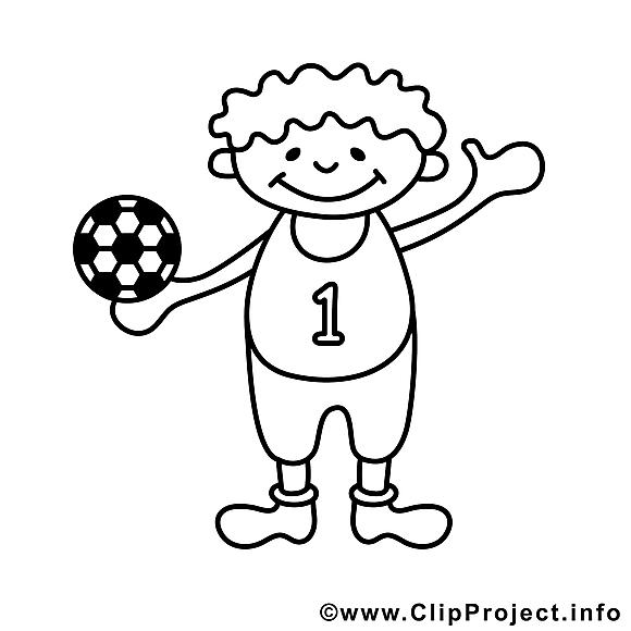 Football garçon dessins gratuits – Enfants à colorier