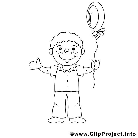 Garçon illustration – Coloriage enfants à télécharger