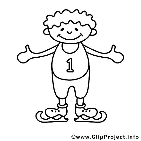 Patins à glace dessin gratuit – Enfants à colorier