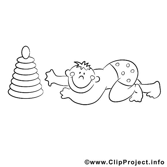 Pyramide garçon image – Enfants images à colorier