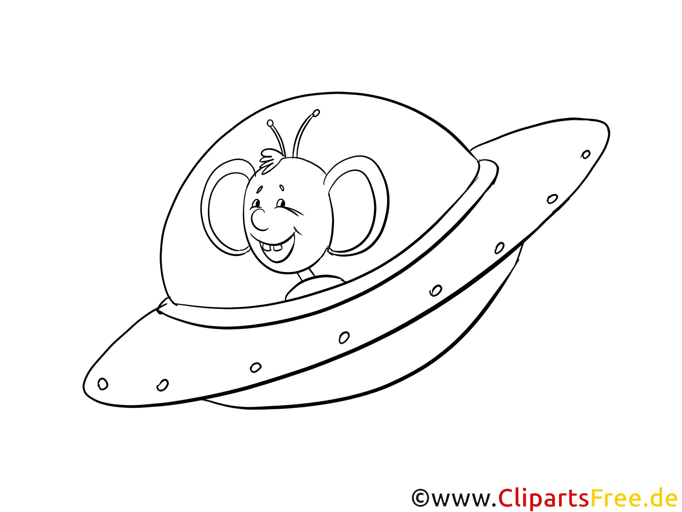 Soucoupe volante illustration gratuite clipart - Soucoupe volante dessin ...