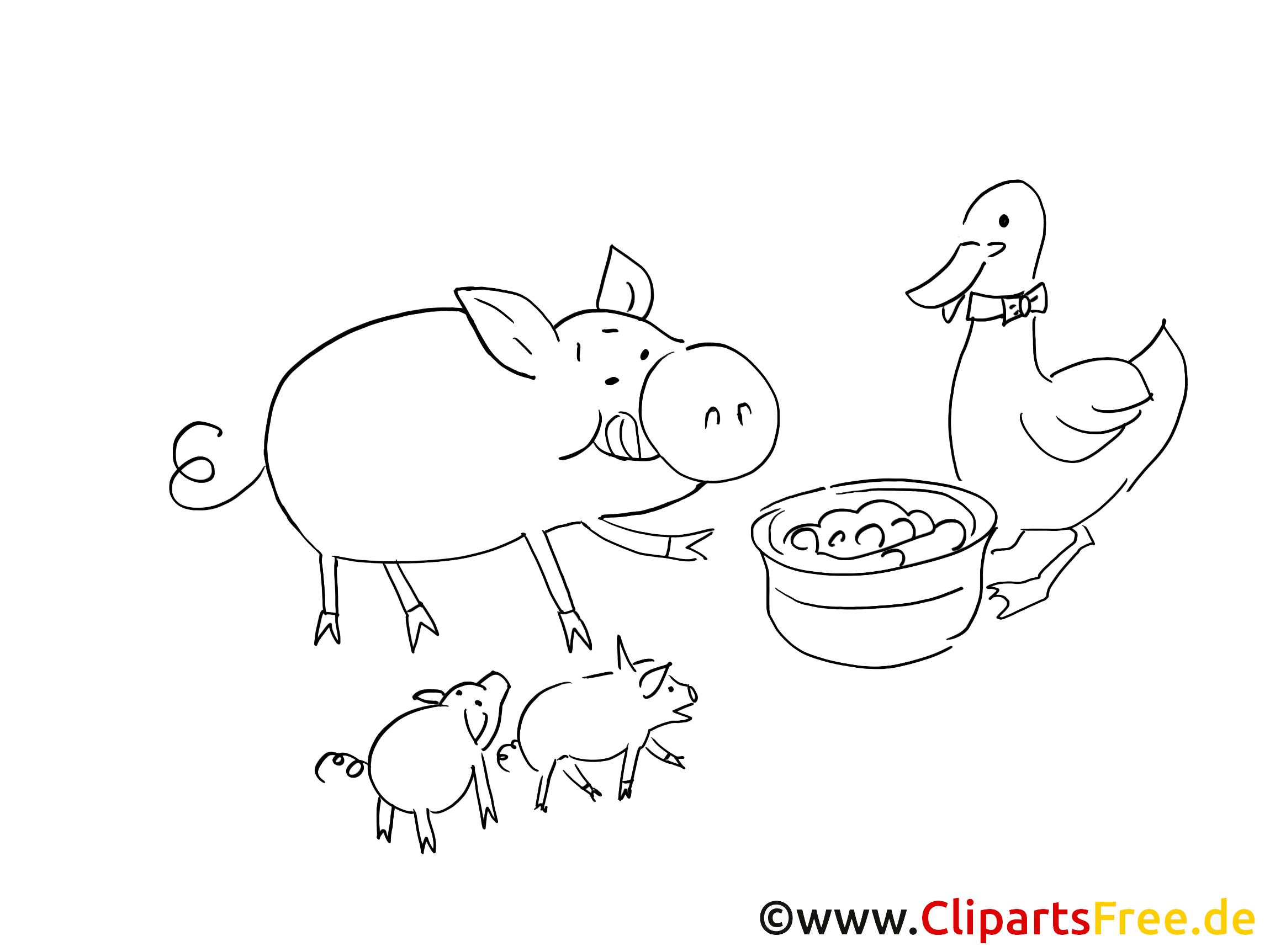 Animaux dessin à imprimer – Ferme à télécharger