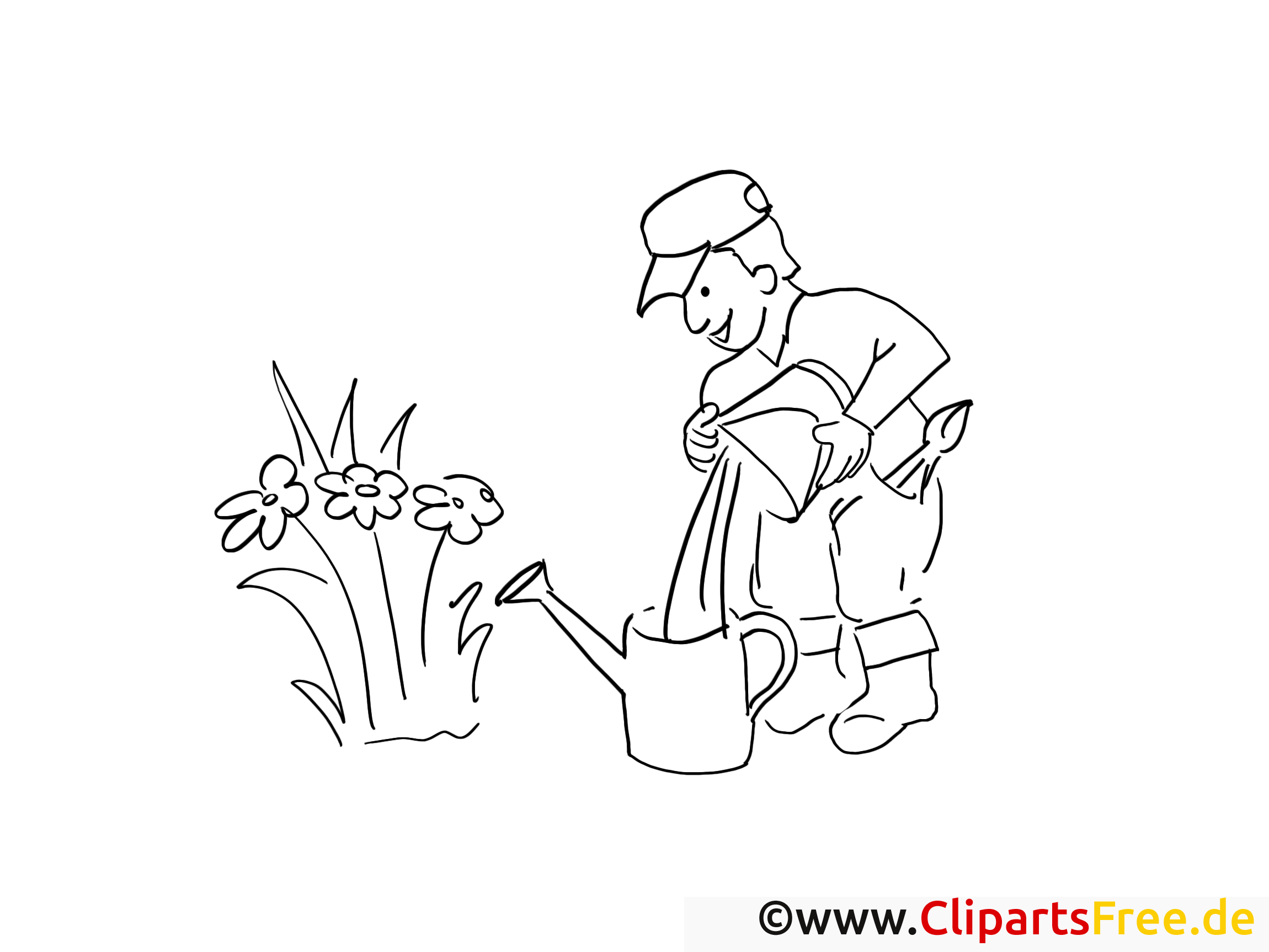 Arrosoir dessins gratuits – Campagne à colorier