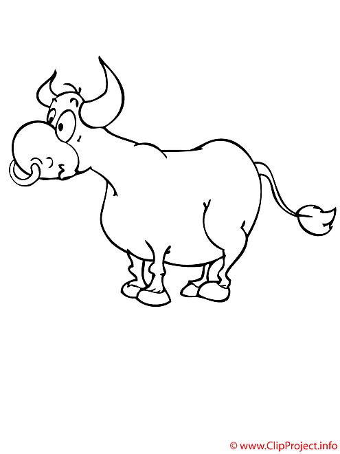 Bœuf coloriage