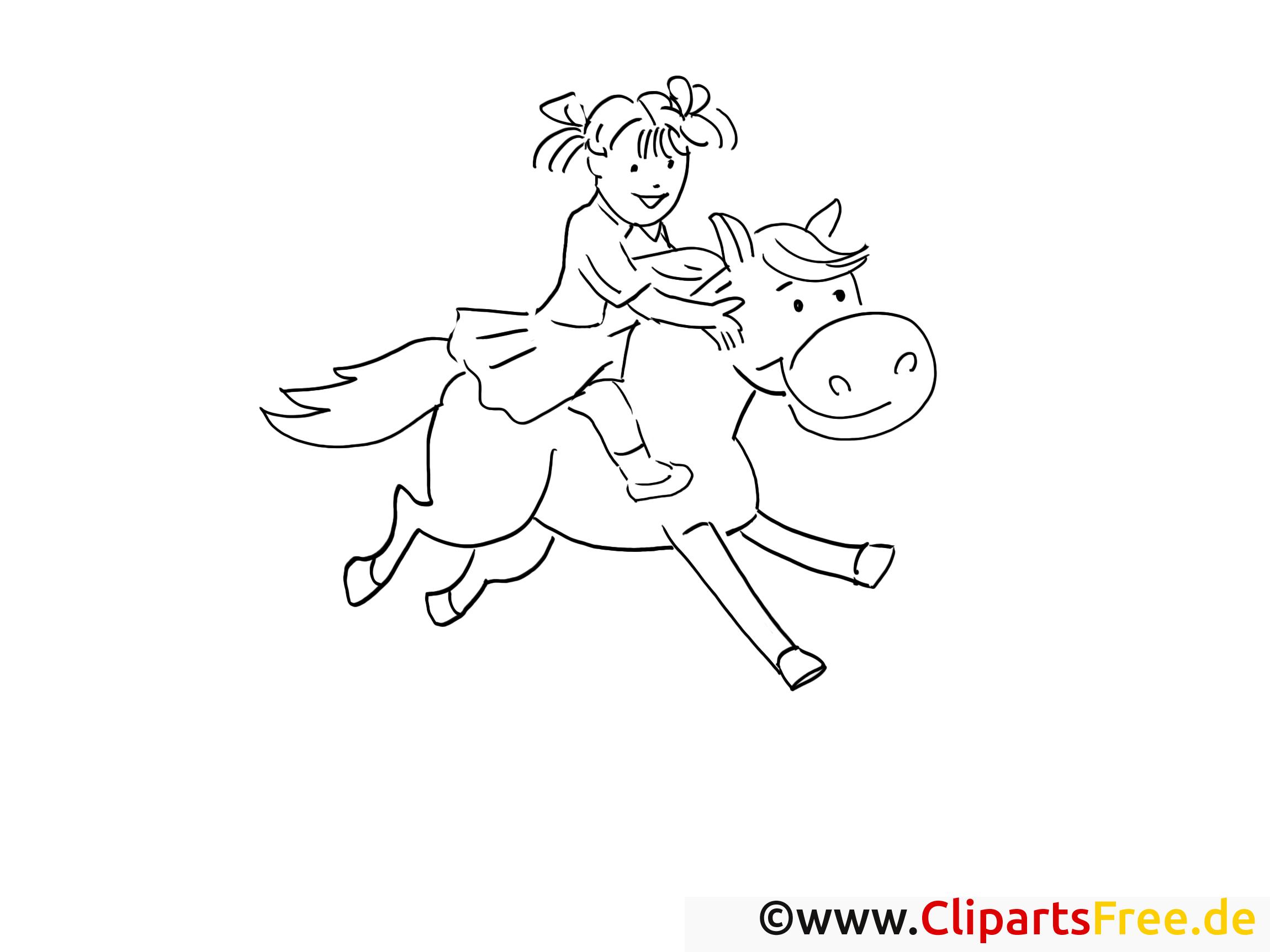 Cavalière illustration – Campagne à imprimer