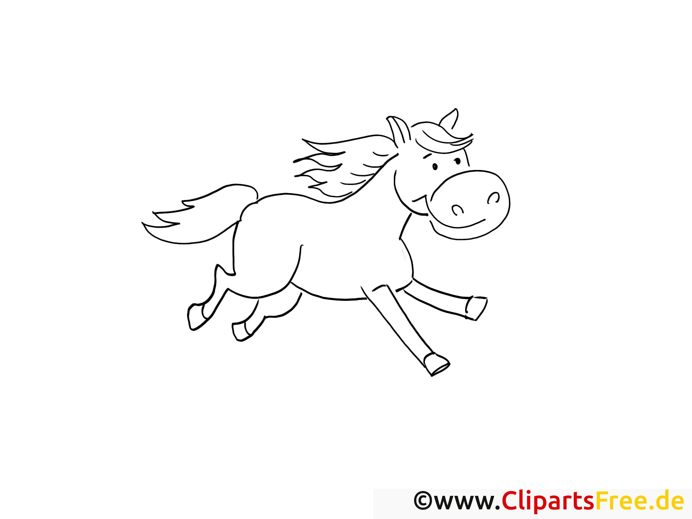 Cheval clip arts – Campagne à imprimer