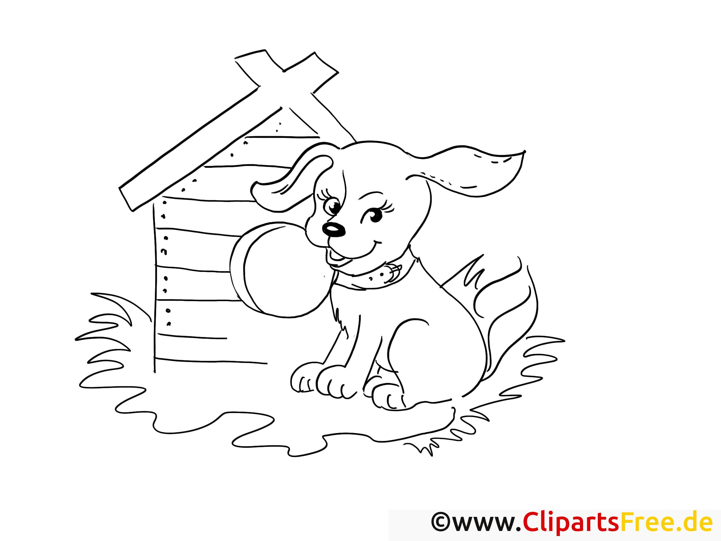 Chien dessin à télécharger – Campagne à colorier