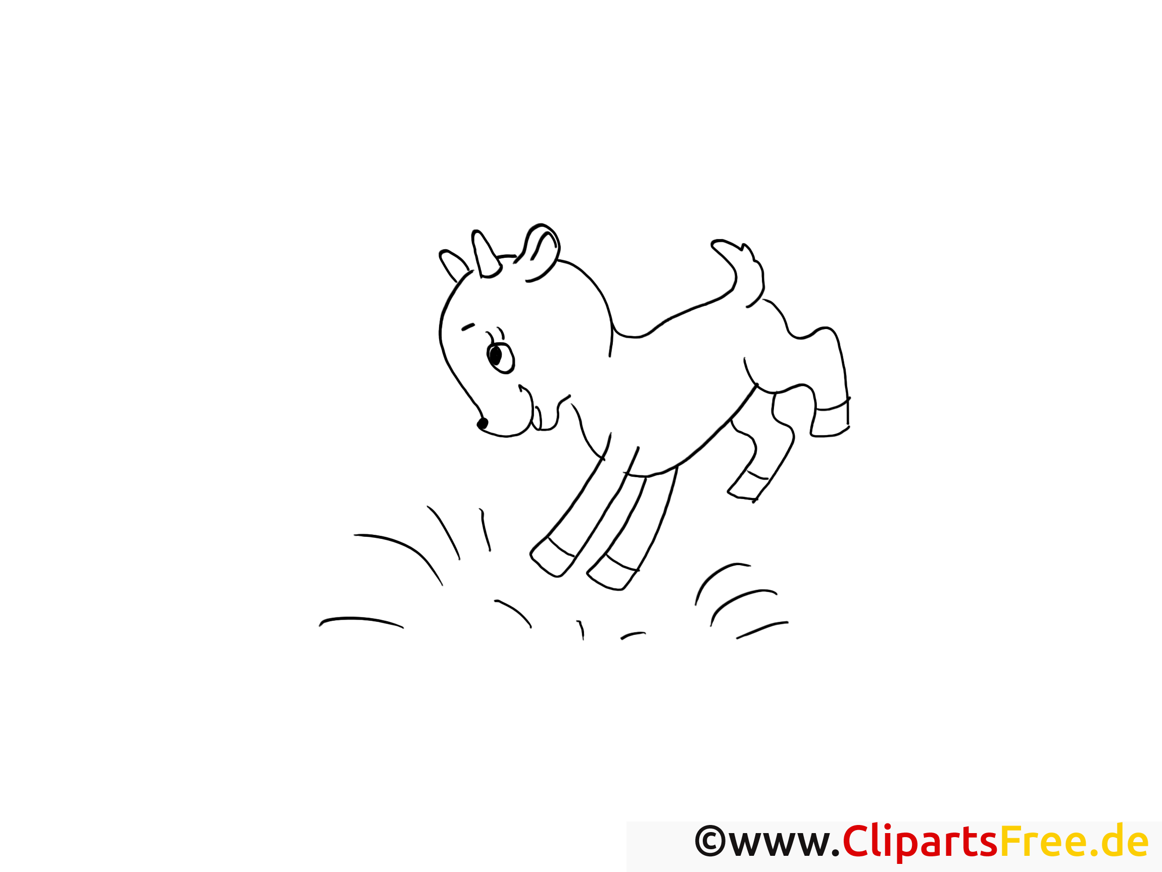 Clipart chevreau – Campagne dessins à colorier