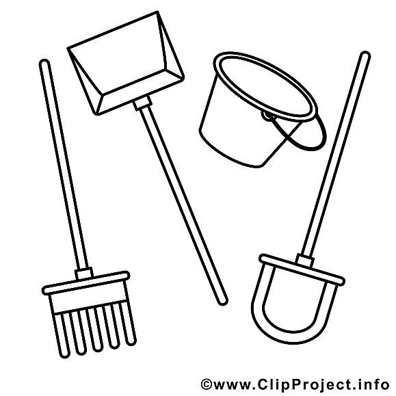 Outils dessin – Coloriage campagne à télécharger