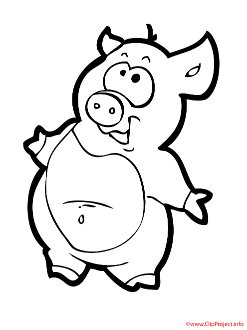 Petit cochon coloriage