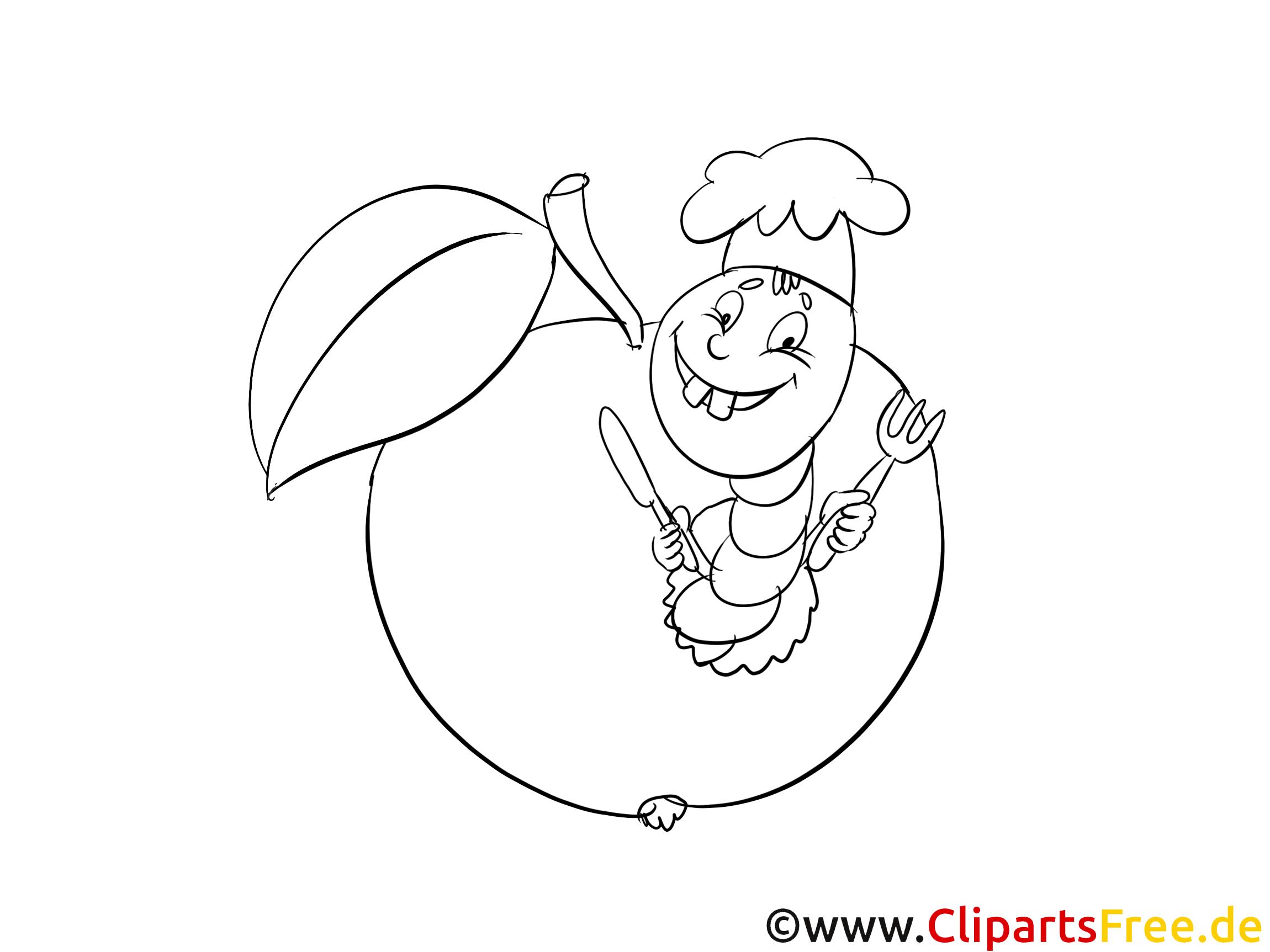 Pomme clip art – Campagne image à colorier
