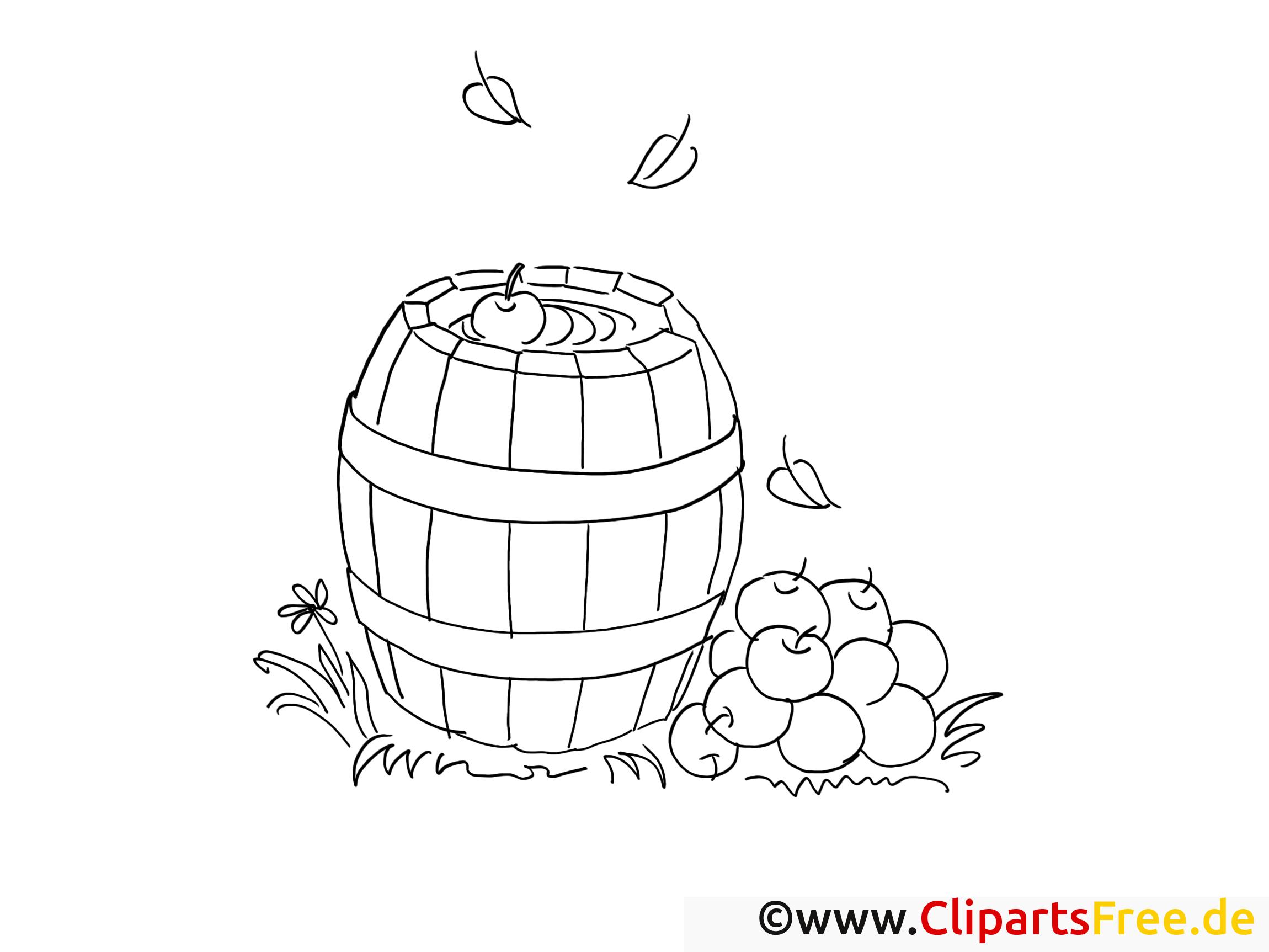 Pommes cliparts gratuis – Campagne à imprimer