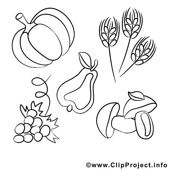 Récolte dessin gratuit – Campagne à colorier