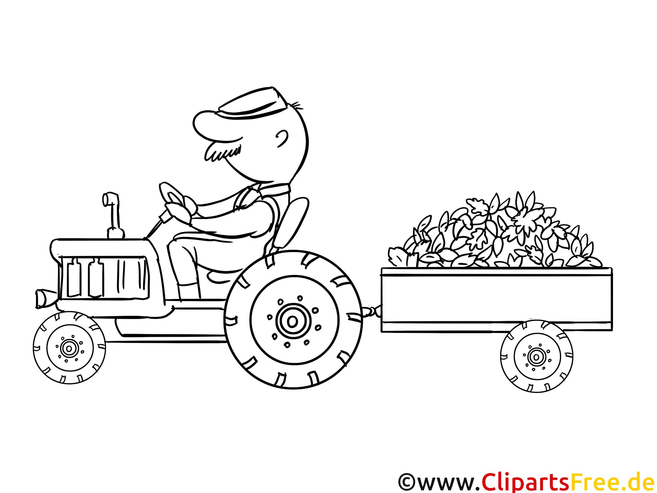 Tracteur dessin à télécharger - Campagne à colorier - Ferme coloriages dessin, picture, image ...