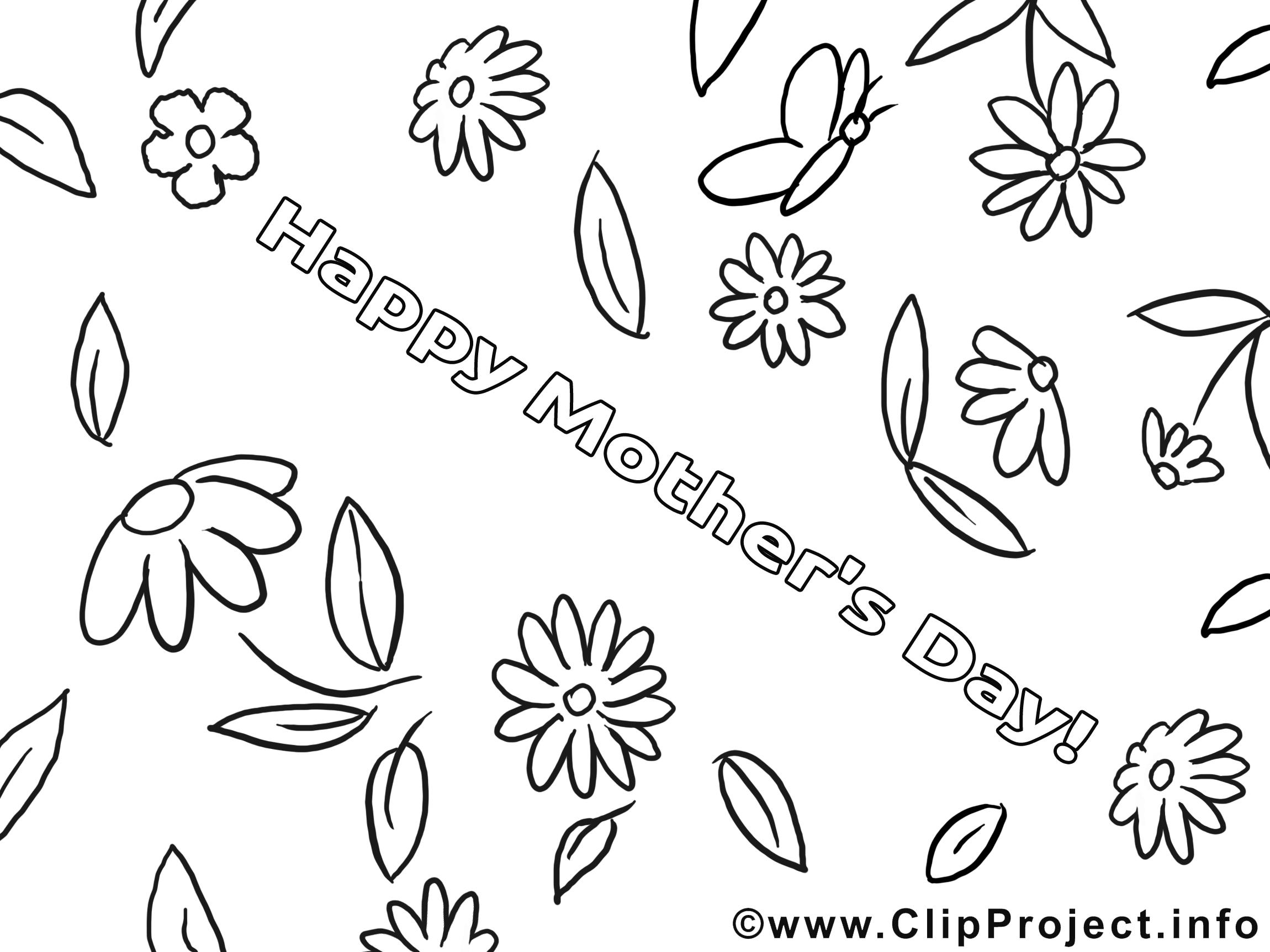 Carte clip arts – Fête des mères à imprimer