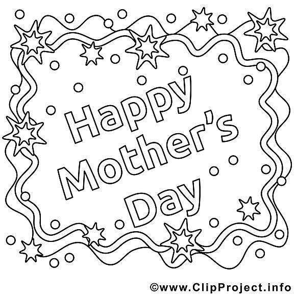 Carte dessin – Fête des mères gratuits à imprimer