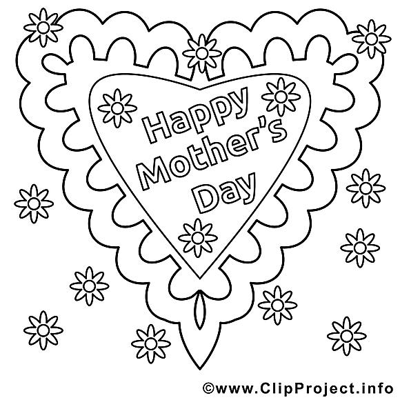 Coeur images – Fête des mères gratuit à imprimer