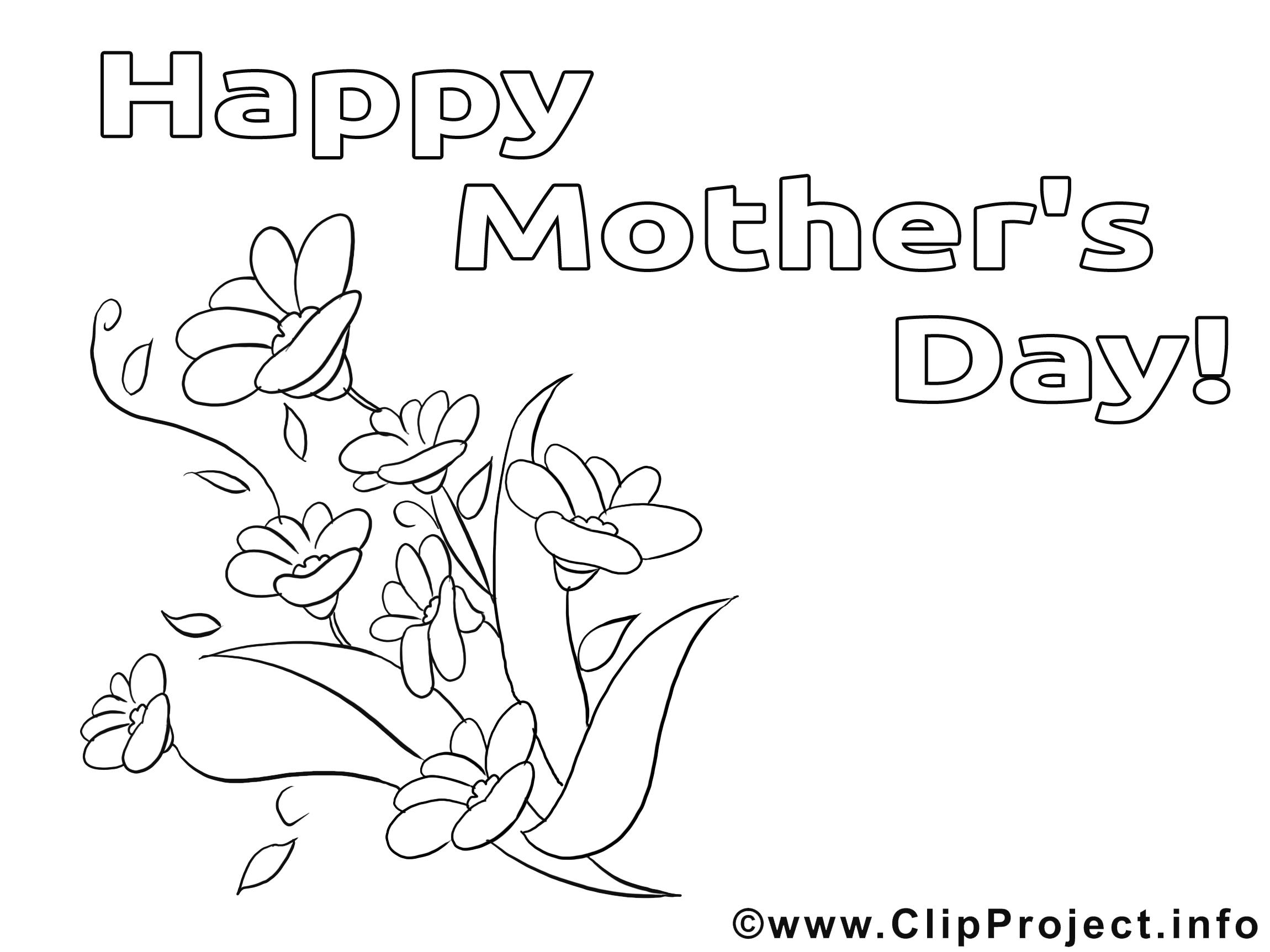 Dessin fleurs – Coloriage fête des mères à télécharger
