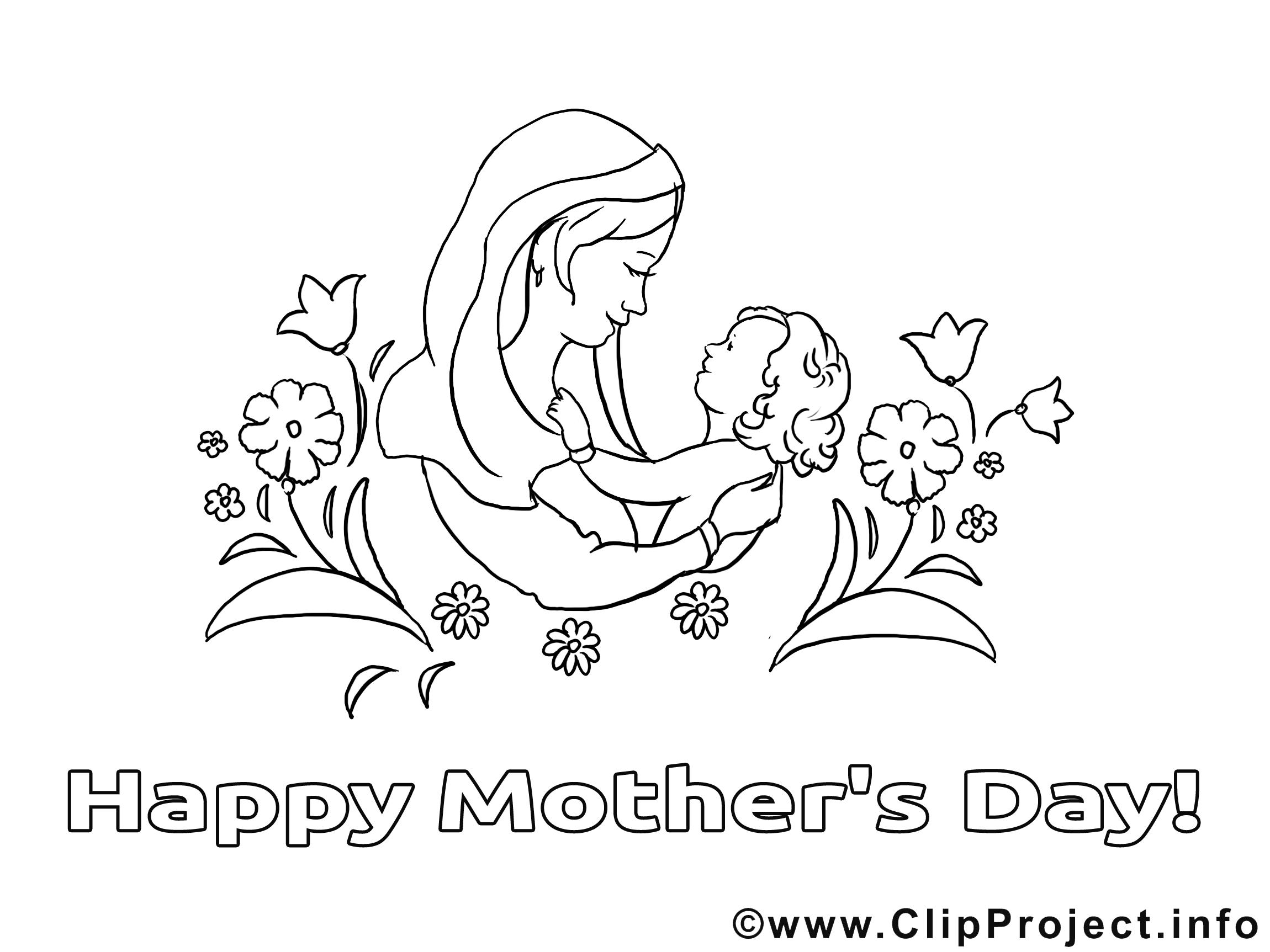 Illustration bébé – Fête des mères à imprimer