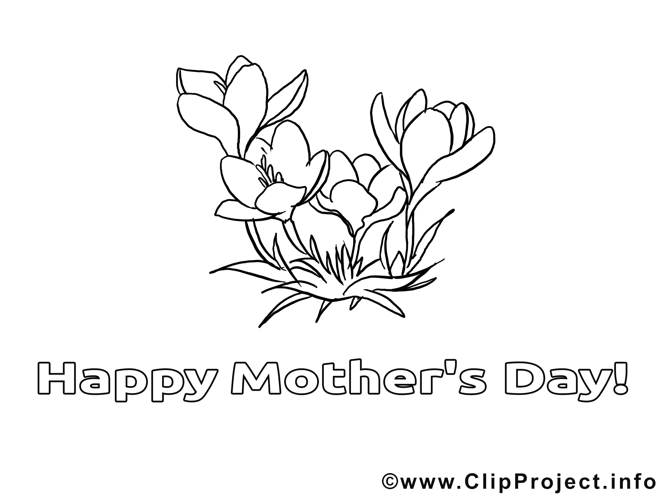 Illustration fleurs – Fête des mères à imprimer