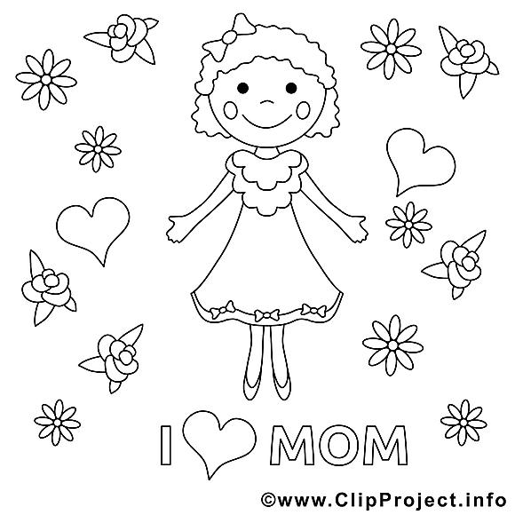 J'aime ma maman clip arts – Fête des mères à imprimer