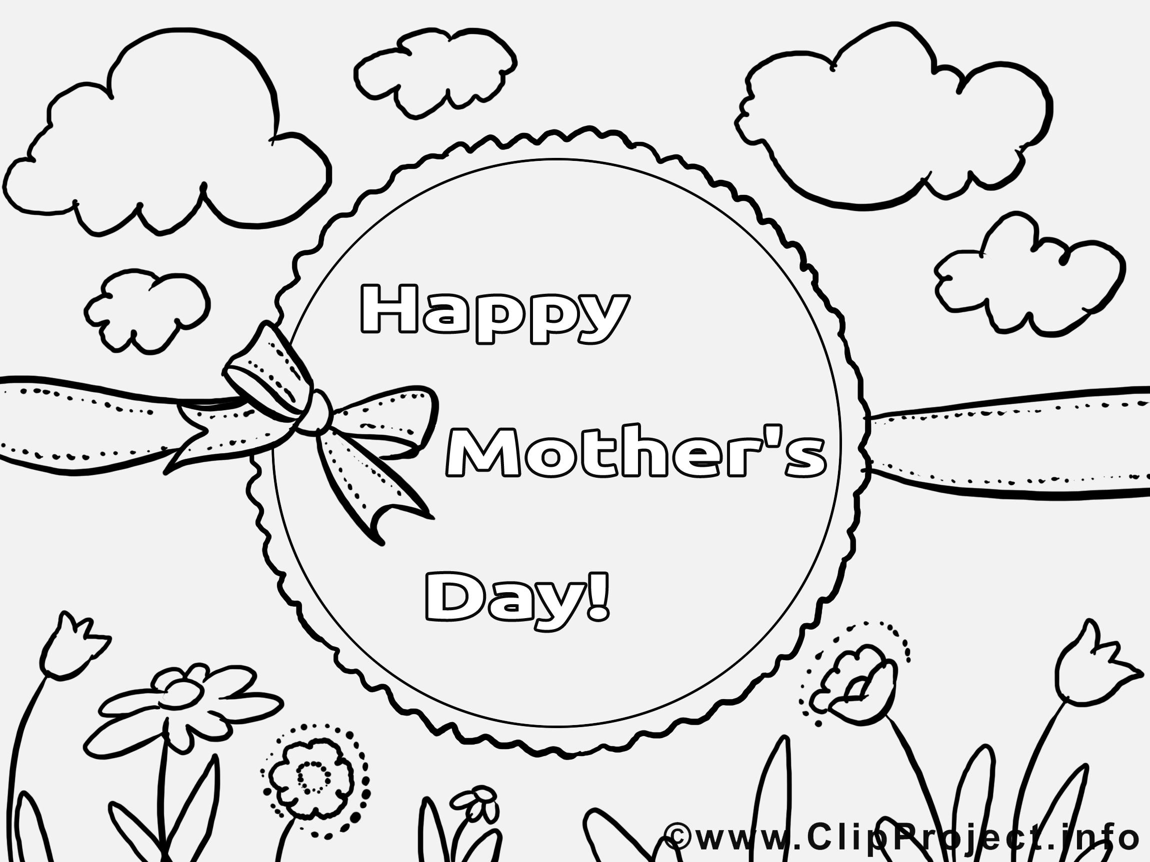 Nuages images – Fête des mères gratuits à imprimer