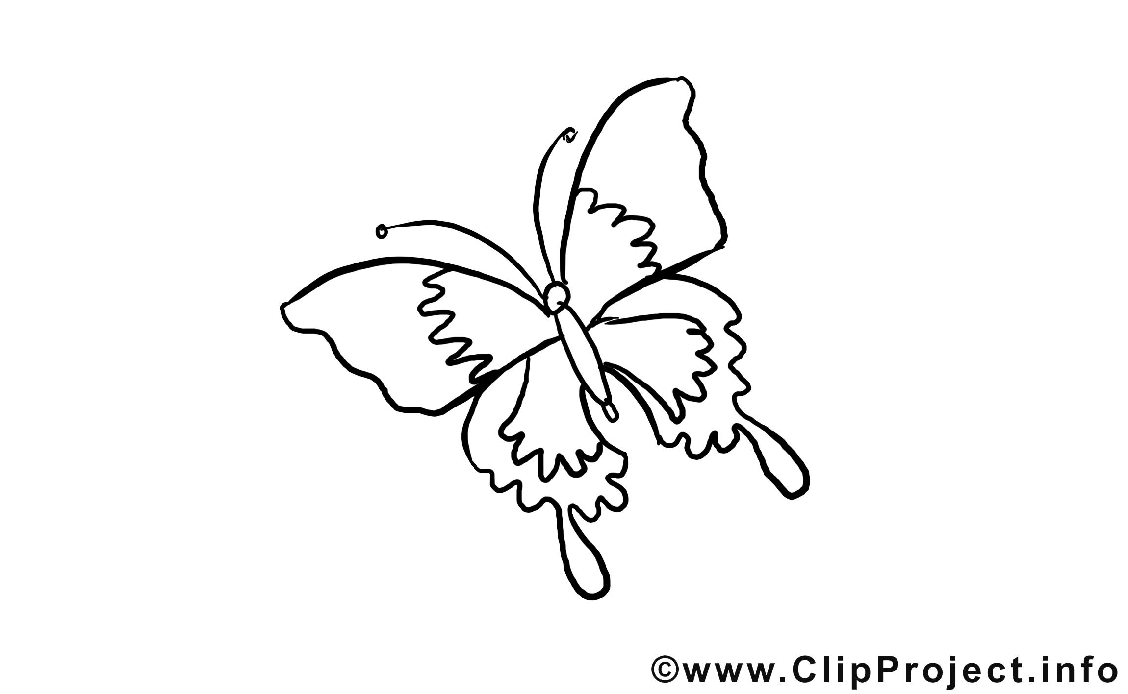 Papillon dessin coloriage à télécharger
