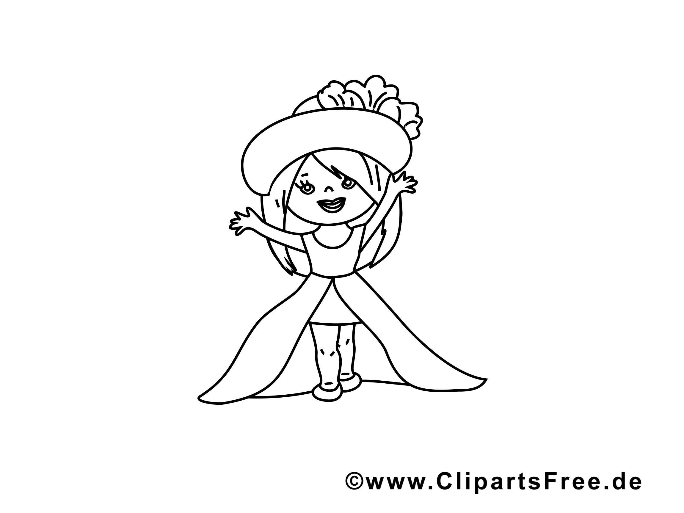 Princesse illustration – Fille à imprimer