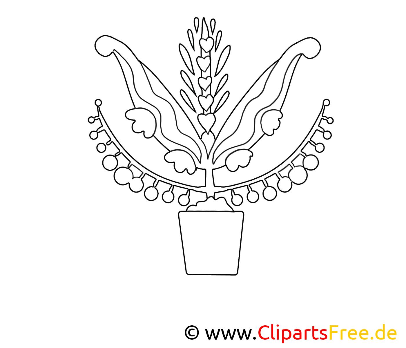 Clipart gratuit floraison – Fleurs à colorier